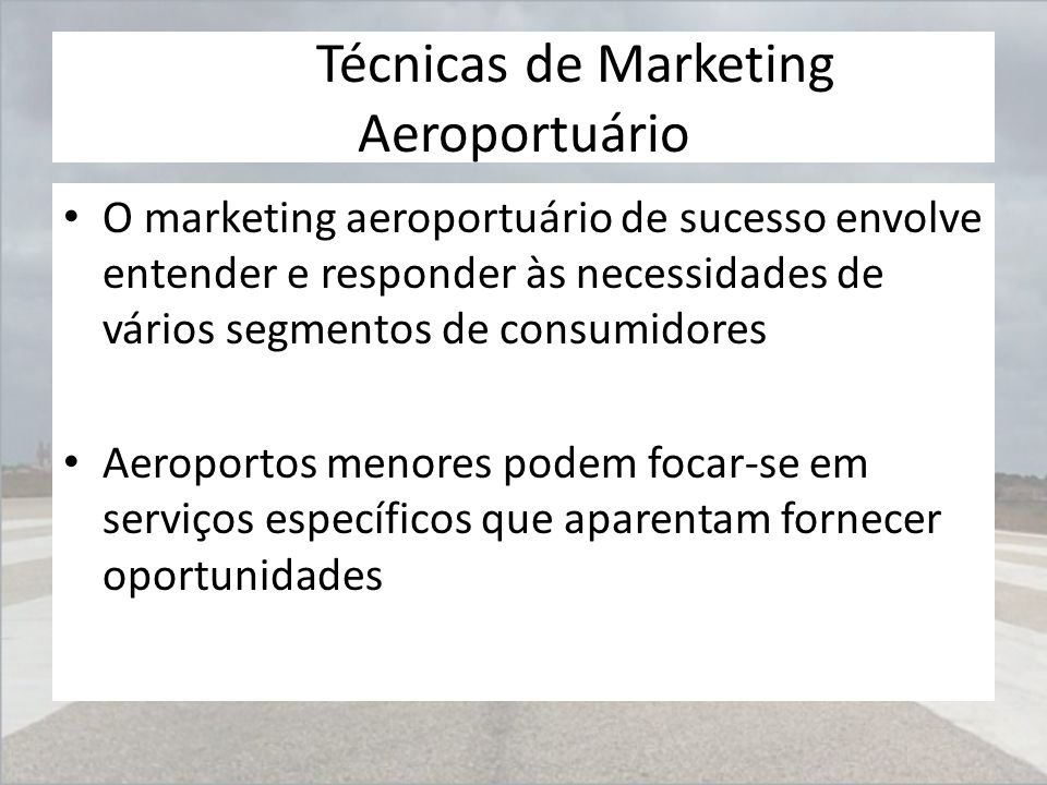 Técnicas de Marketing Aeroportuário