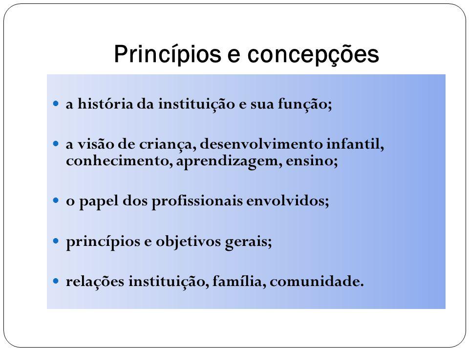 Princípios e concepções
