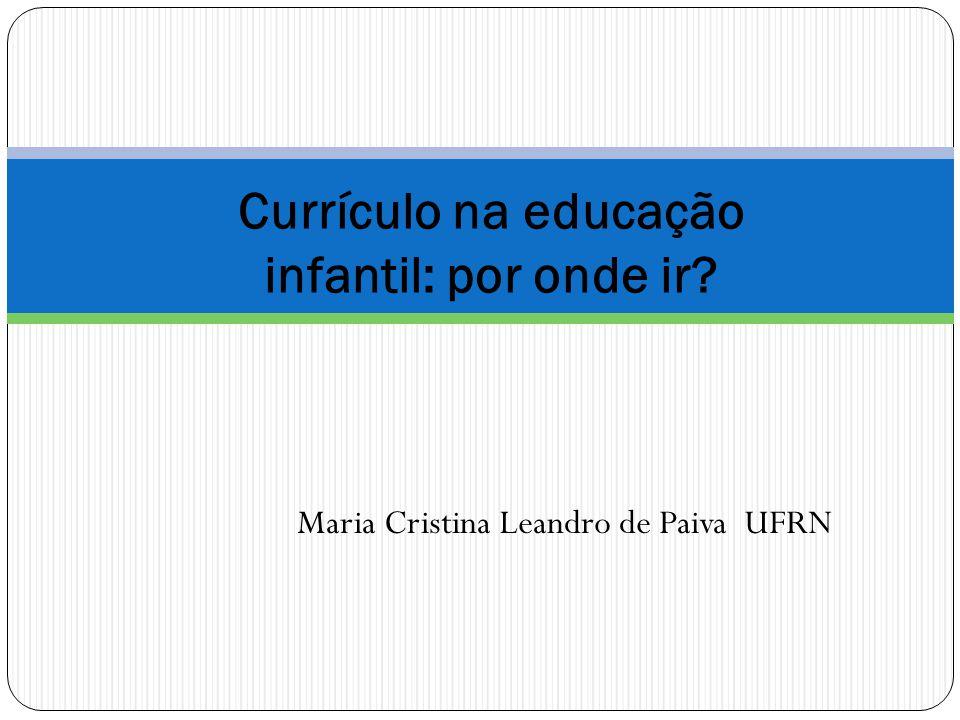 Currículo na educação infantil: por onde ir