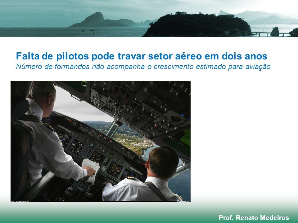 Falta de pilotos pode travar setor aéreo em dois anos