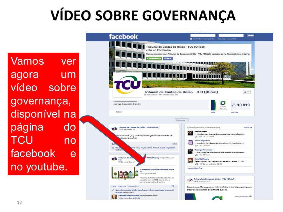 VÍDEO SOBRE GOVERNANÇA