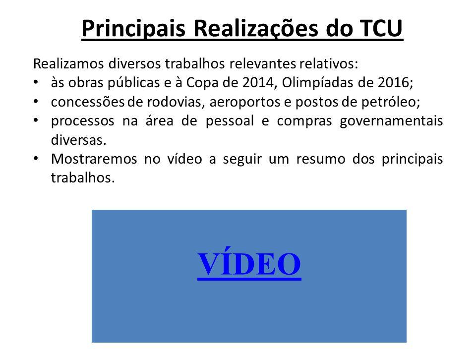 Principais Realizações do TCU