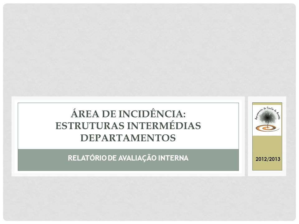 Área de Incidência: ESTRUTURAS INTERMÉDIAS DEPARTAMENTOS