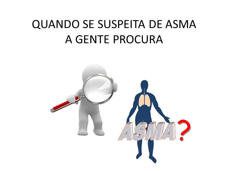 QUANDO SE SUSPEITA DE ASMA A GENTE PROCURA