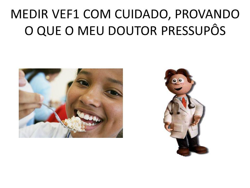 MEDIR VEF1 COM CUIDADO, PROVANDO O QUE O MEU DOUTOR PRESSUPÔS