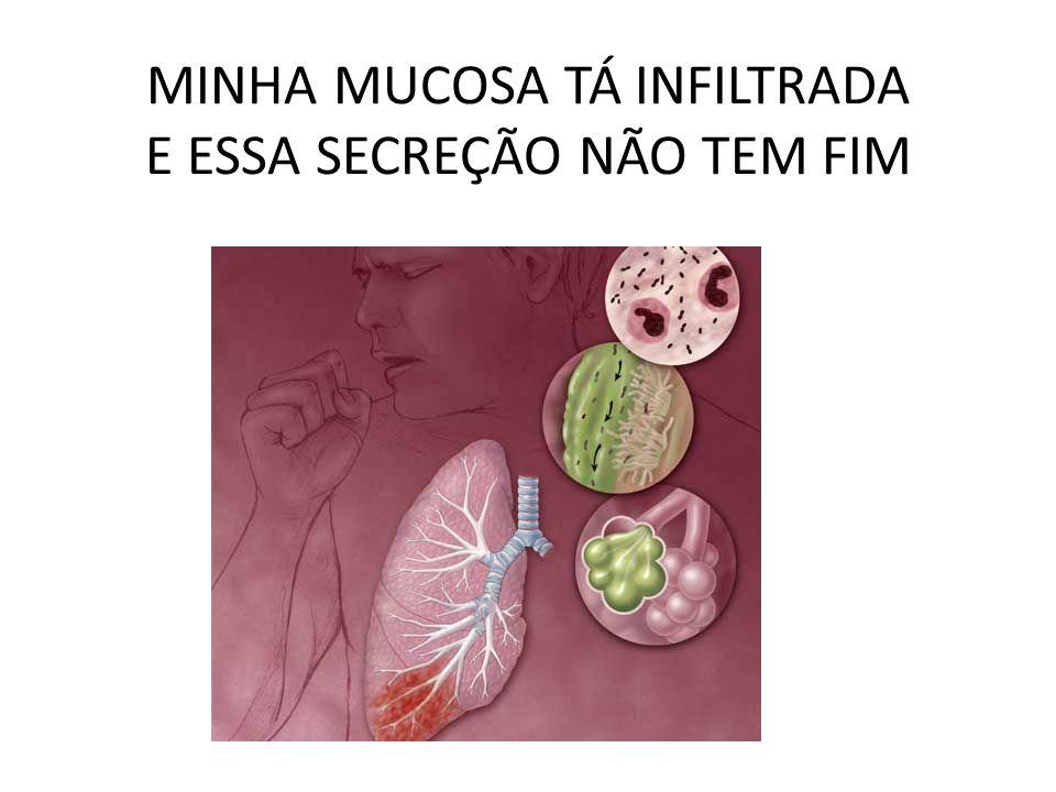 MINHA MUCOSA TÁ INFILTRADA E ESSA SECREÇÃO NÃO TEM FIM