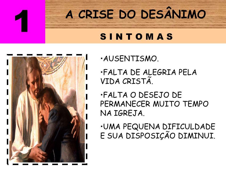 1 A CRISE DO DESÂNIMO S I N T O M A S AUSENTISMO.