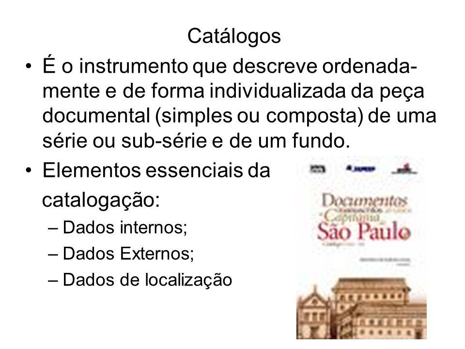 Elementos essenciais da catalogação: