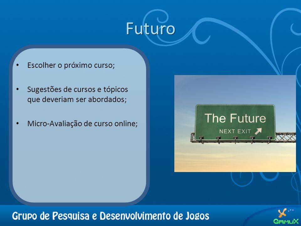 Futuro Escolher o próximo curso;
