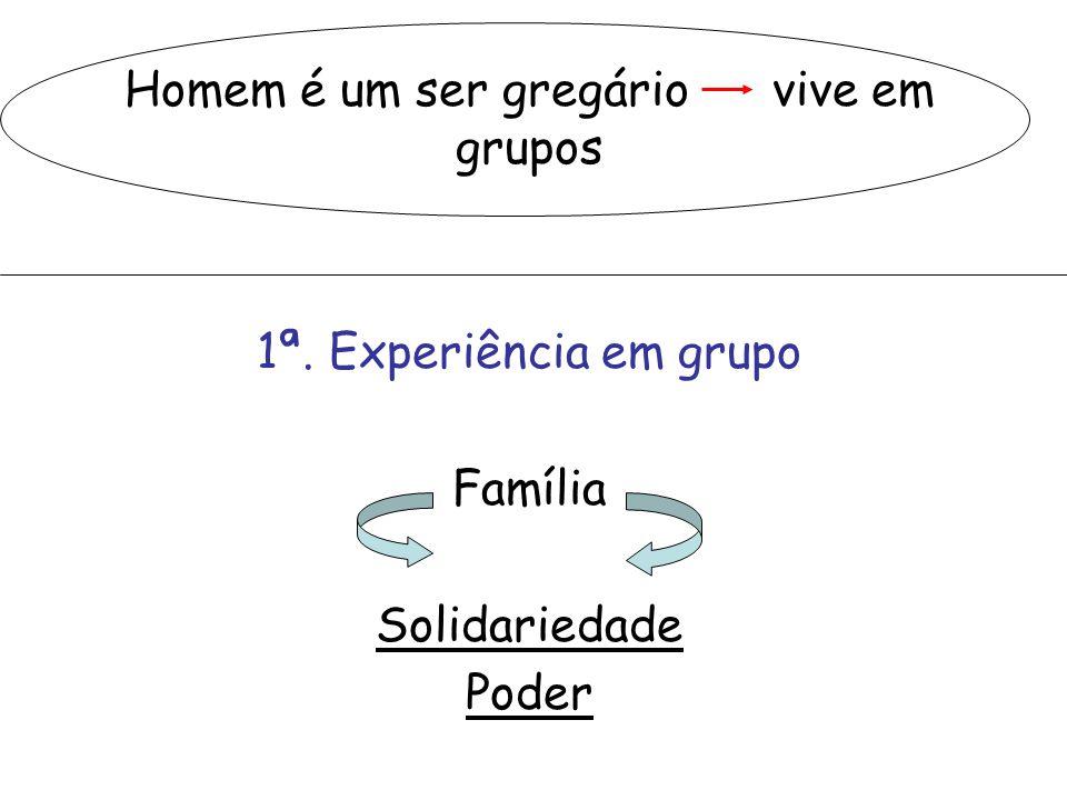 Homem é um ser gregário vive em grupos
