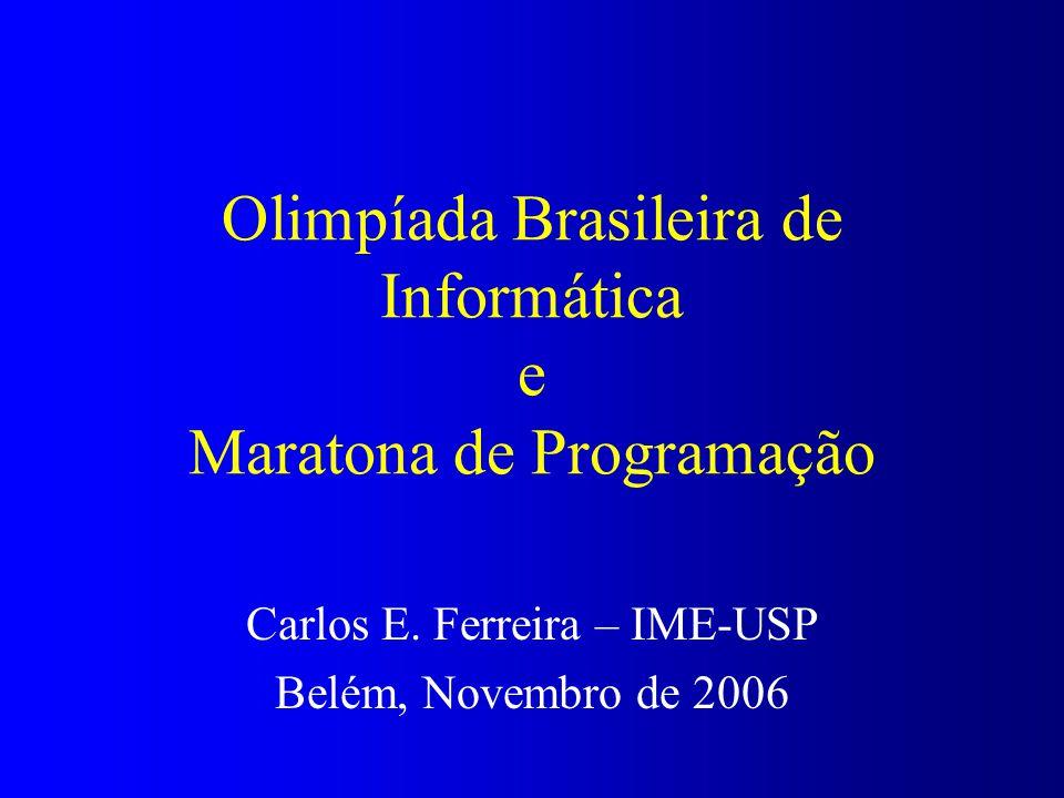 Olimpíada Brasileira de Informática e Maratona de Programação