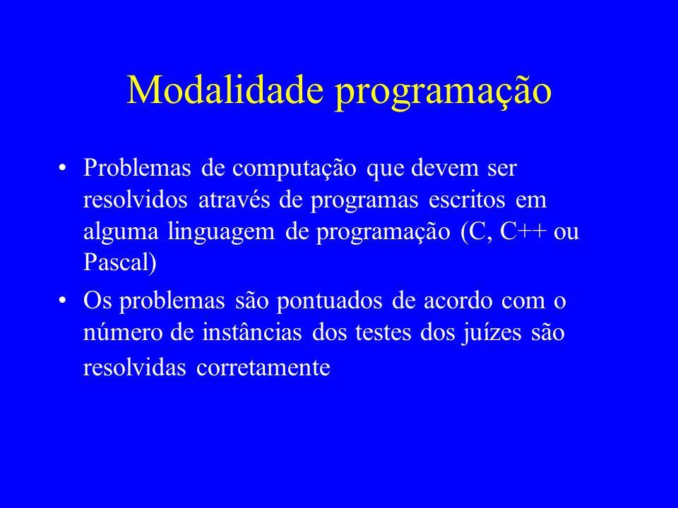 Modalidade programação