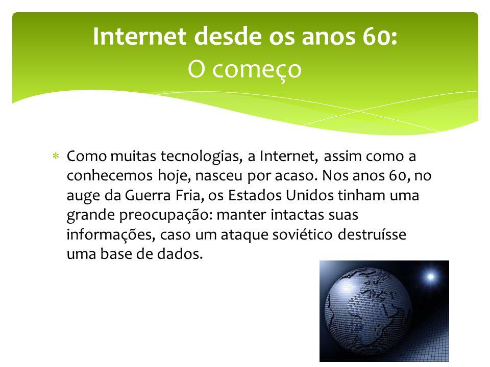 Internet desde os anos 60: O começo