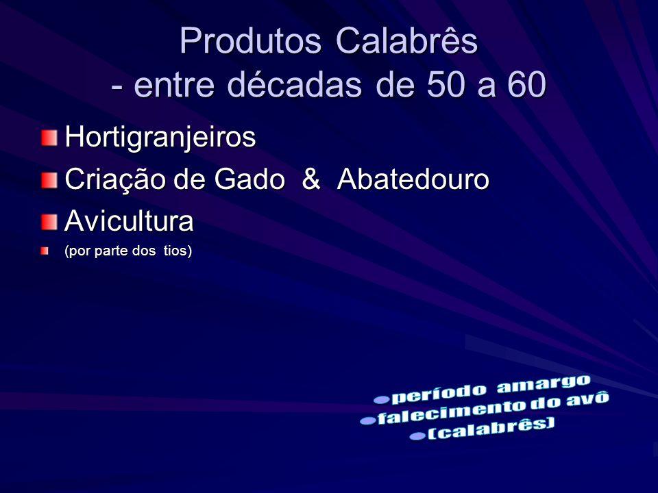 Produtos Calabrês - entre décadas de 50 a 60