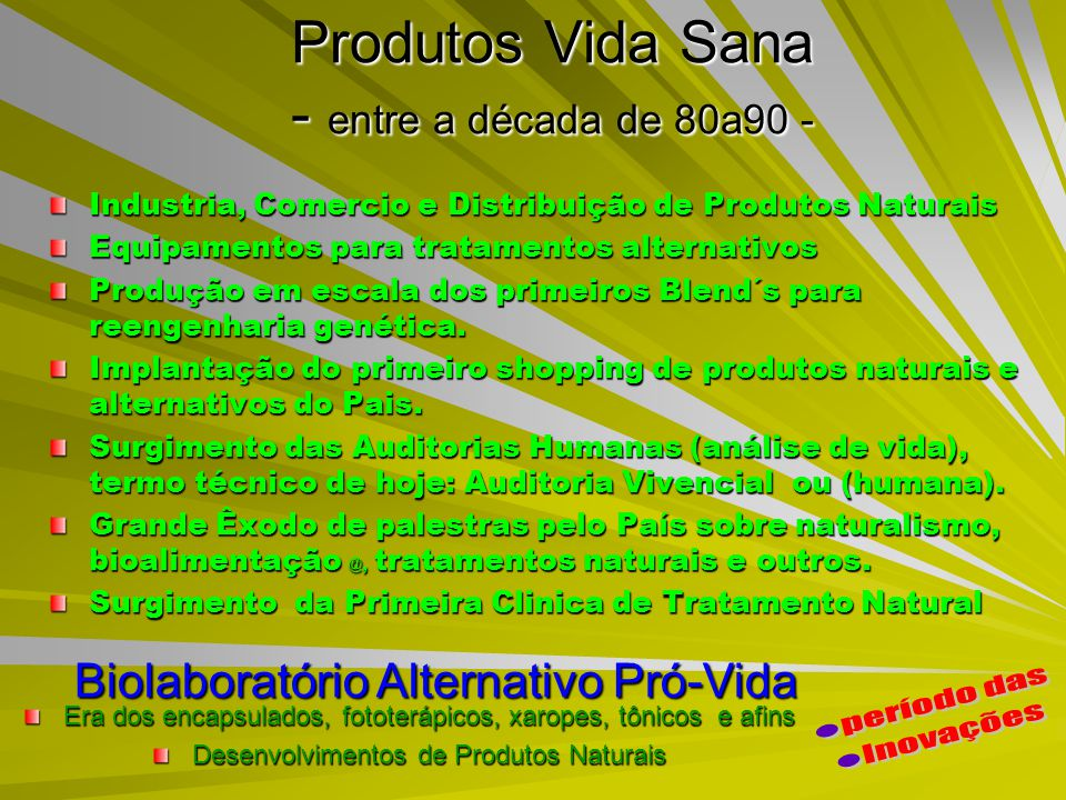 Produtos Vida Sana - entre a década de 80a90 -