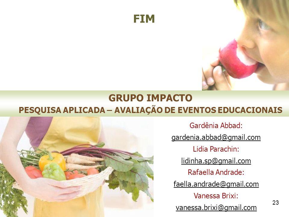 PESQUISA APLICADA – AVALIAÇÃO DE EVENTOS EDUCACIONAIS