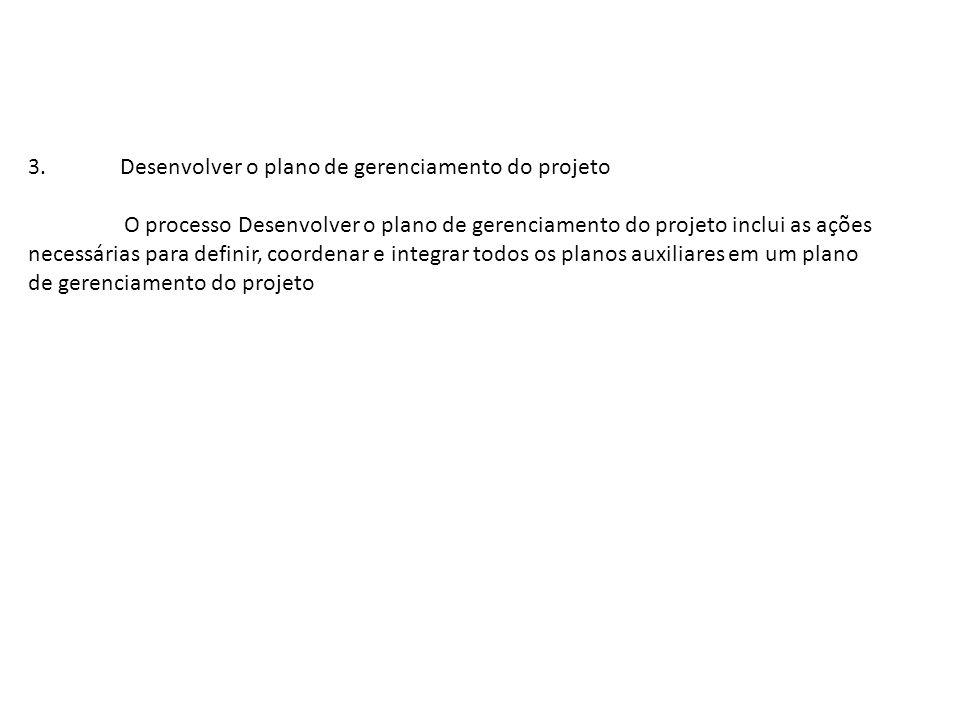 Desenvolver o plano de gerenciamento do projeto