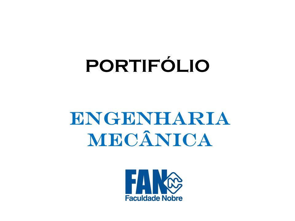 PORTIFÓLIO ENGENHARIA MECÂNICA