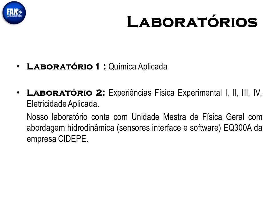 Laboratórios Laboratório 1 : Química Aplicada