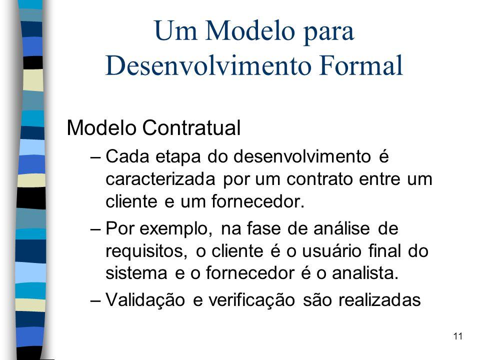 Um Modelo para Desenvolvimento Formal