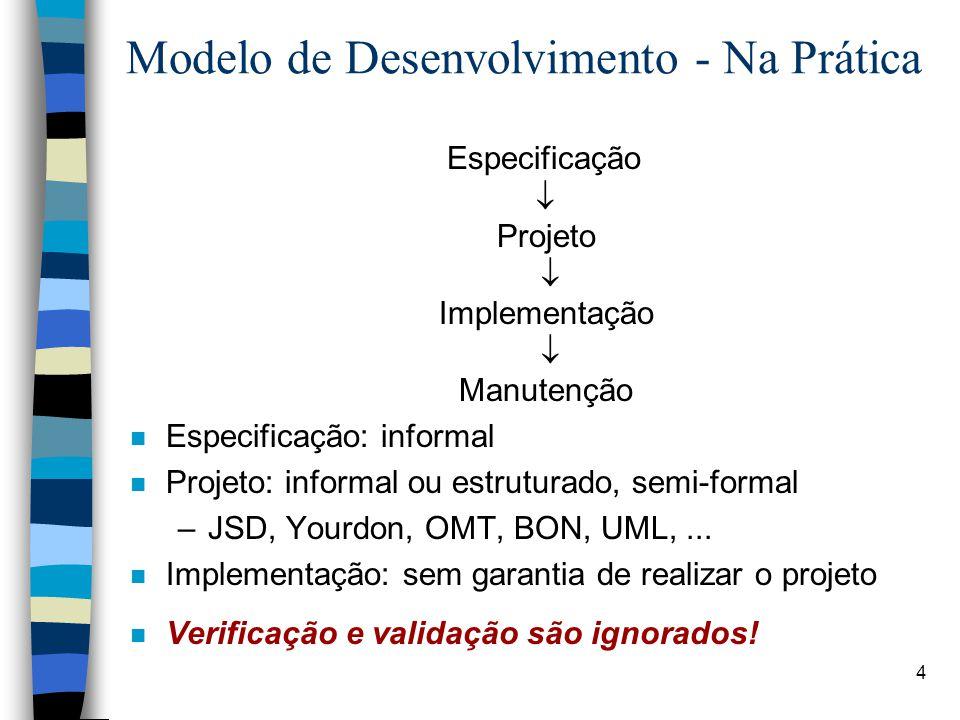 Modelo de Desenvolvimento - Na Prática