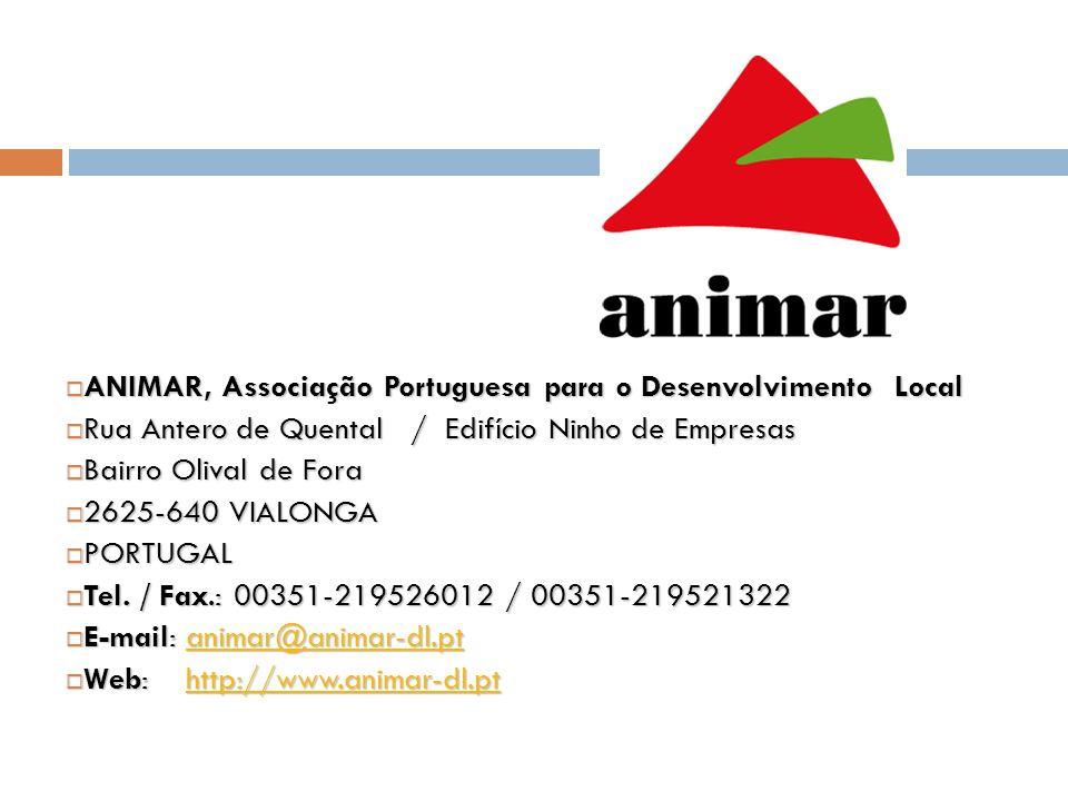 ANIMAR, Associação Portuguesa para o Desenvolvimento Local