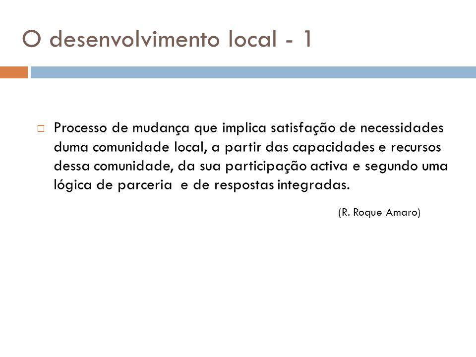 O desenvolvimento local - 1