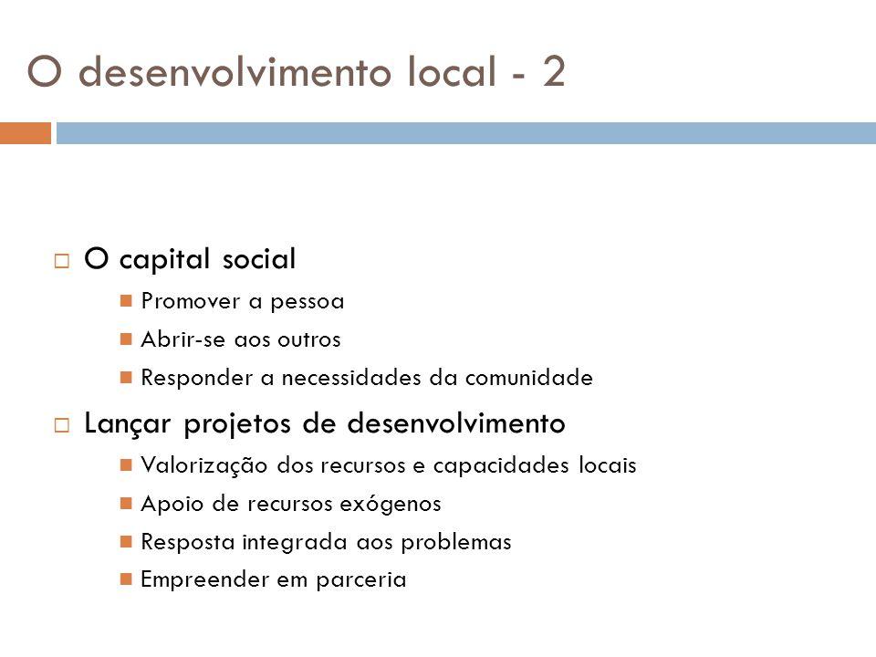 O desenvolvimento local - 2
