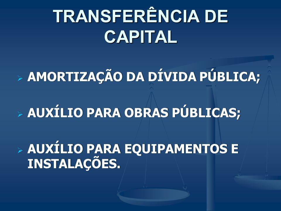 TRANSFERÊNCIA DE CAPITAL