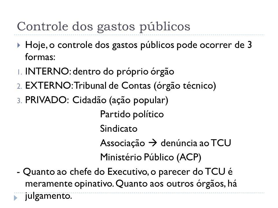 Controle dos gastos públicos