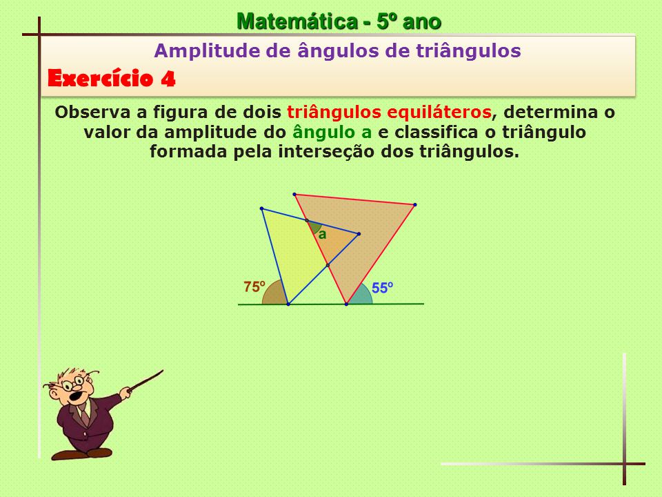 Amplitude de ângulos de triângulos