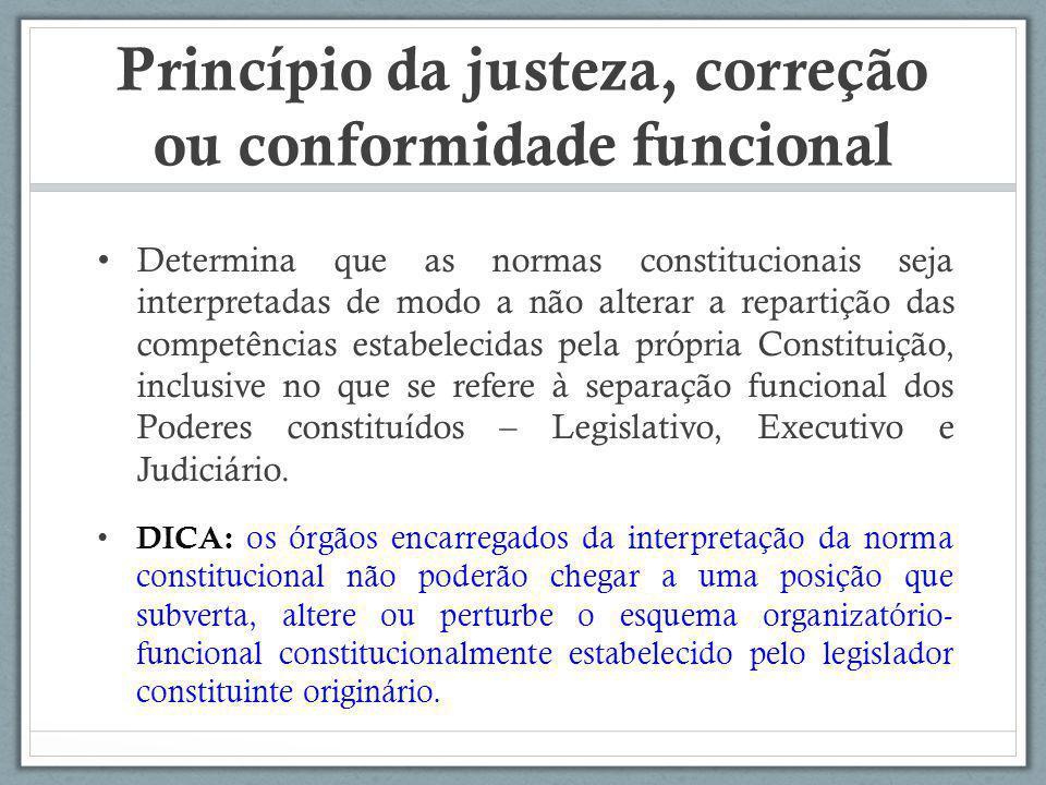 Princípio da justeza, correção ou conformidade funcional