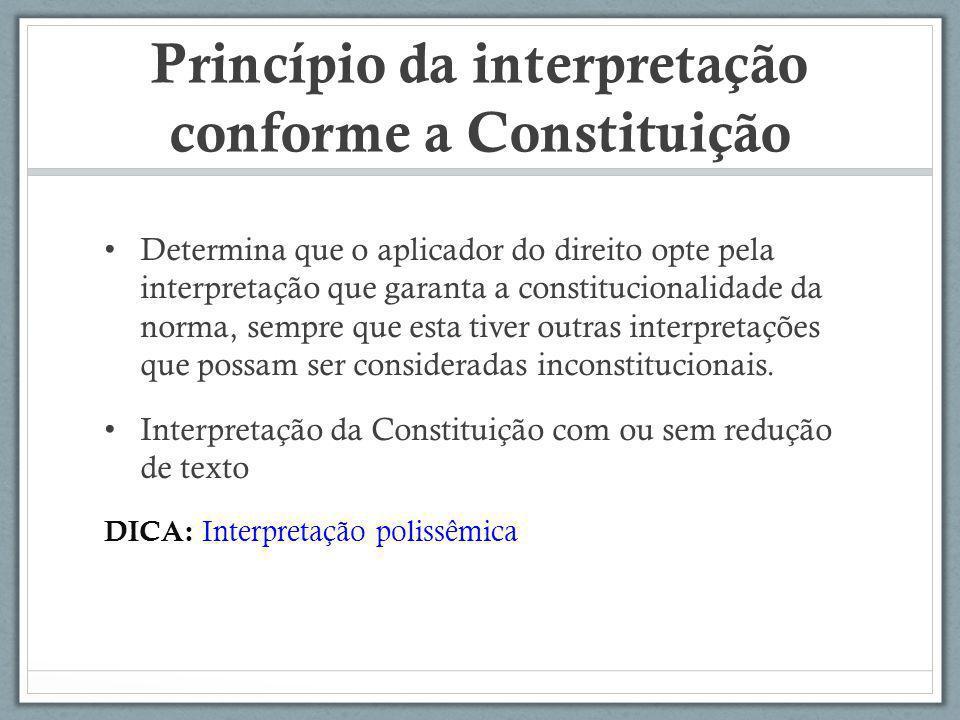 Princípio da interpretação conforme a Constituição