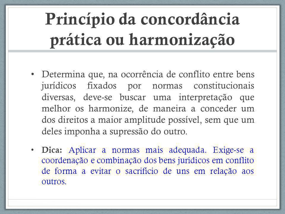Princípio da concordância prática ou harmonização