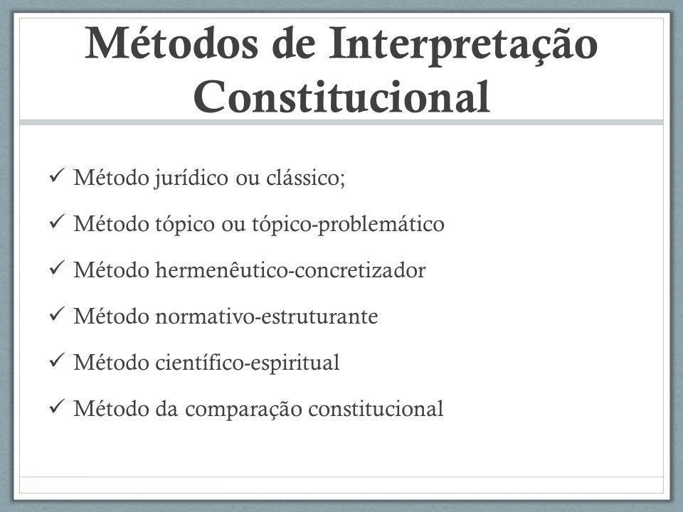 Métodos de Interpretação Constitucional