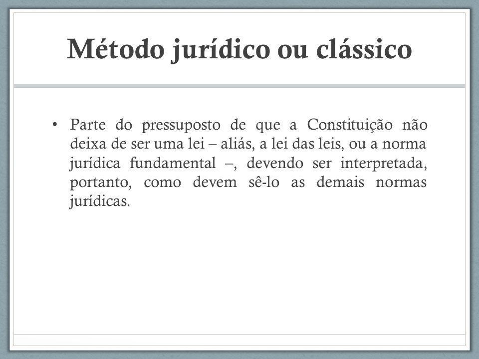 Método jurídico ou clássico