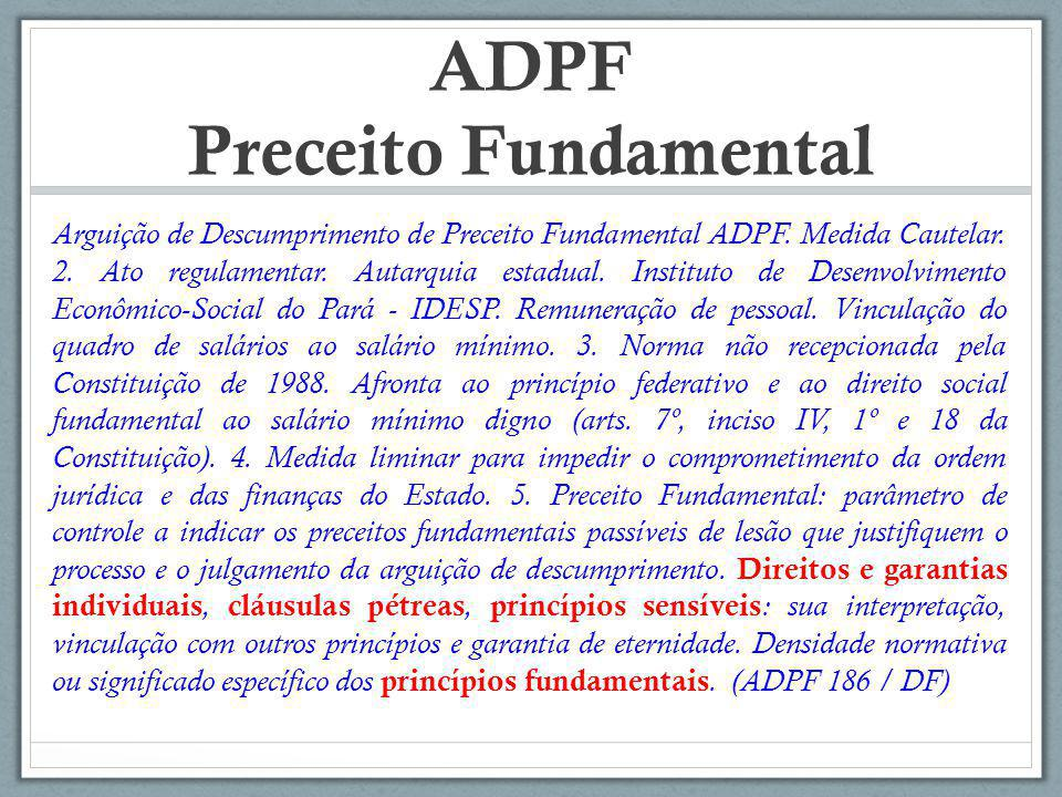 ADPF Preceito Fundamental