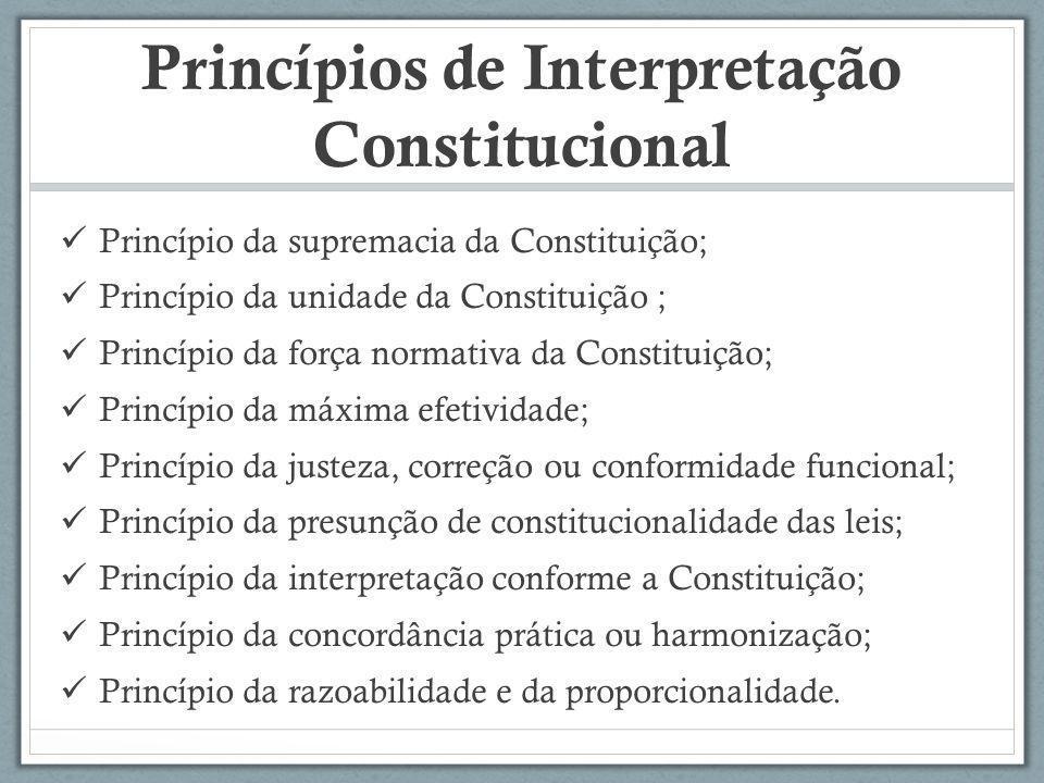 Princípios de Interpretação Constitucional