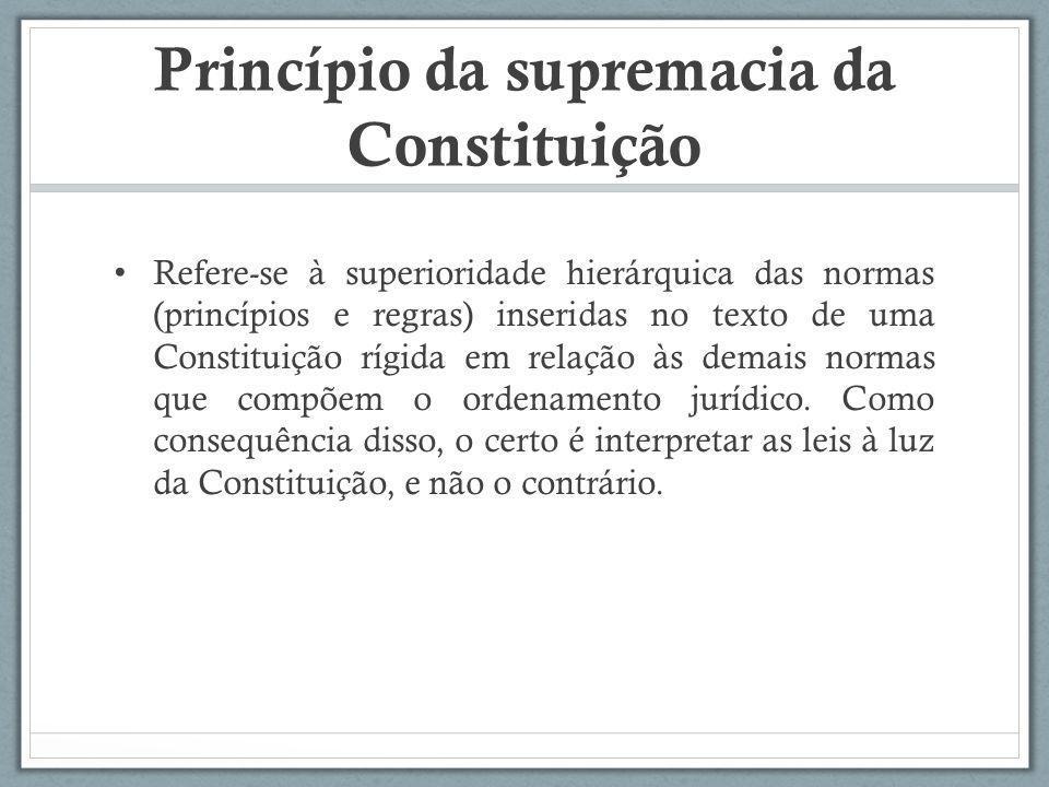 Princípio da supremacia da Constituição