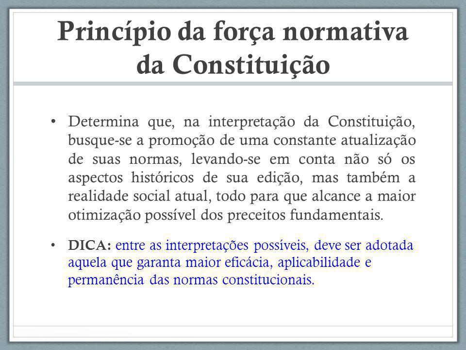 Princípio da força normativa da Constituição