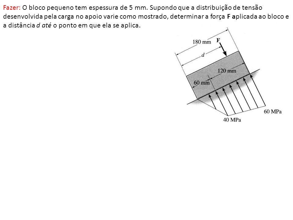 Fazer: O bloco pequeno tem espessura de 5 mm