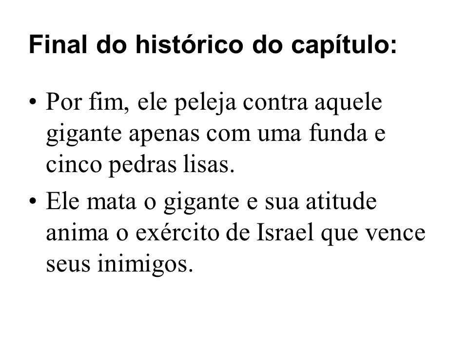 Final do histórico do capítulo: