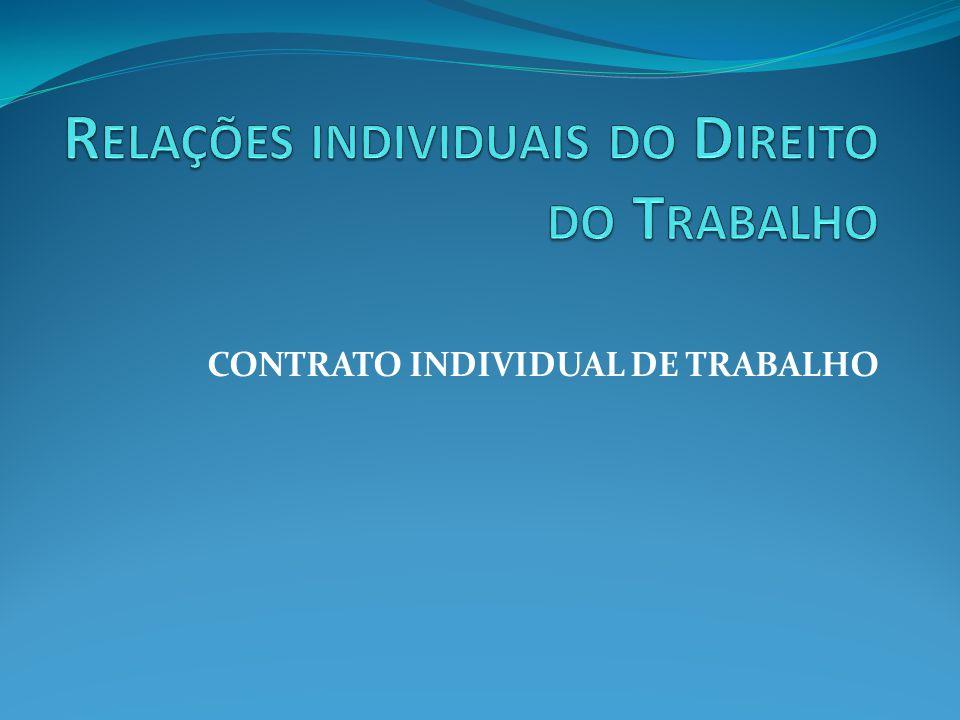 Relações individuais do Direito do Trabalho
