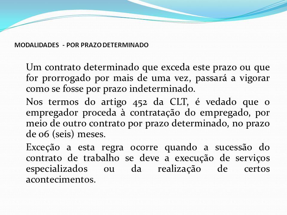MODALIDADES - POR PRAZO DETERMINADO
