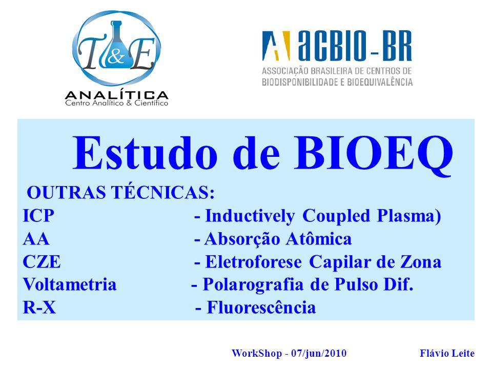 Estudo de BIOEQ AMOSTRAGEM ICP - Inductively Coupled Plasma)