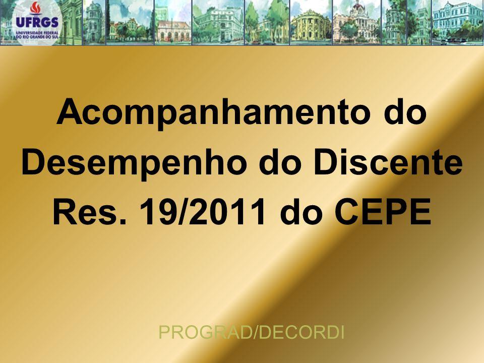 Acompanhamento do Desempenho do Discente Res. 19/2011 do CEPE