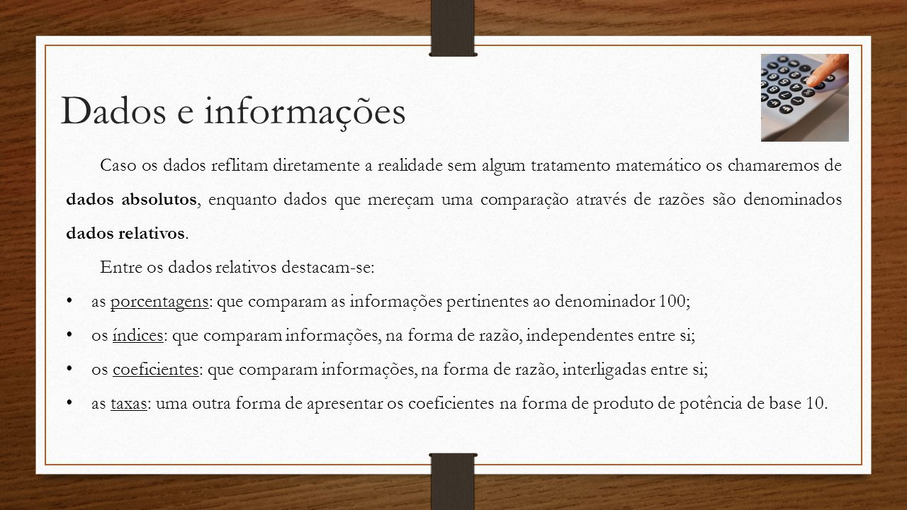 Dados e informações