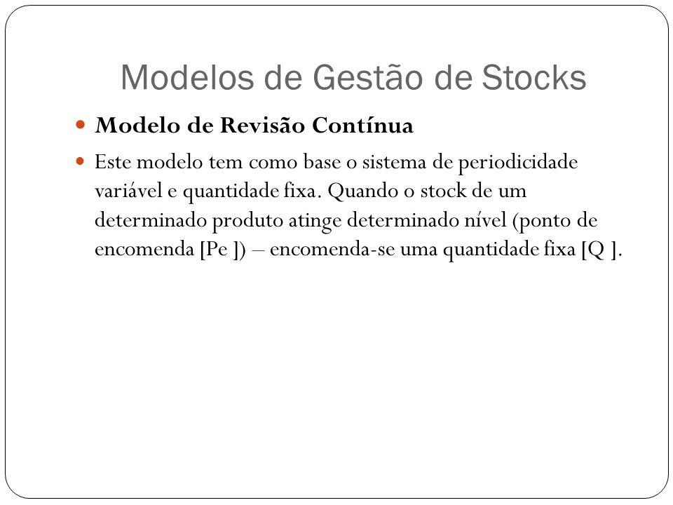 Modelos de Gestão de Stocks