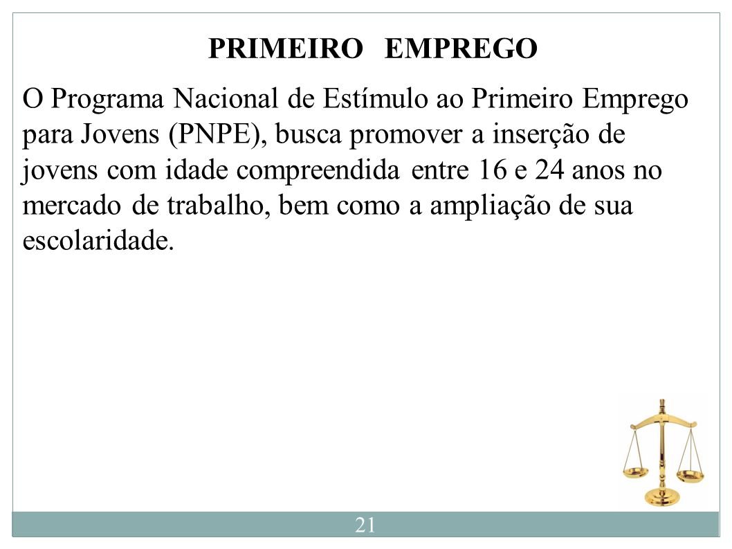 PRIMEIRO EMPREGO