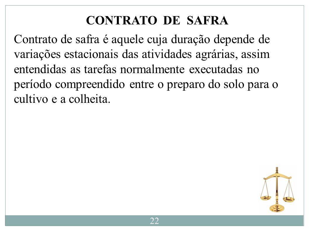 CONTRATO DE SAFRA